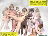 Nasty fairy whores indulge a huge 3D throbbing cock of a muscled stud!