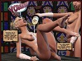 Stunning sex play of horny tranny bitches with hot wax and cocks!