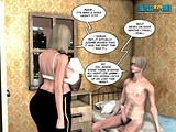 Teen guy seduces a mature hot police bitch for tit play!
