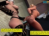 Submissive girl had to bear hardcore strap-on fuck from mistress
