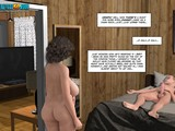 Young guy is being seduced by some filthy 3D milfs from next-door