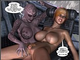 Horny alien creature gets hardcore fucked by a nasty penis girl!
