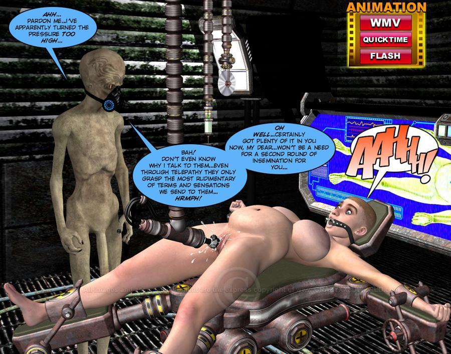 Alien Impregnation Toons - Stunning hot 3D story of a human bitch impregnated by aliens! on Digital  Cunts